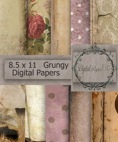 Digital Grunge Background Printable Grungy by digitalpaperetc