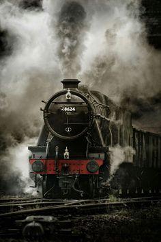 Content filed under the Steam Showers taxonomy. Train Art, By Train, Train Tracks, Motor A Vapor, Old Steam Train, Steam Railway, Bonde, Old Trains, British Rail