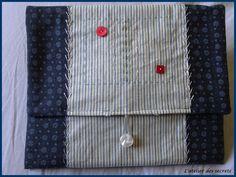 Pochette avec points de broderie traditionnelle Couture, Cufflinks, Accessories, Scrappy Quilts, Handkerchief Dress, Atelier, High Fashion, Sewing, Haute Couture