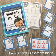 You will love how easy it is to prepare these 3rd Grade Go Math 4.3 Multiply With 6 Task Cards for your class. My students LOVED Task Cards and your students will too! Students can answer these Multiply With 6 Task Cards in your classroom math journals or on the included recording sheets. These 3rd Grade Go Math 4.3 Multiply With 6 Task Cards are perfect for assessment grades for 3rd Grade Go Math Chapter 4! Multiplication And Division Practice, Multiplication Activities, Math Rotations, Math Centers, Early Elementary Resources, Elementary Schools, After School Tutoring, Math Night, Go Math
