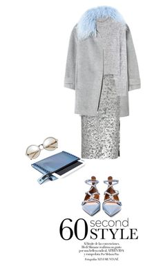 """""""60 Second Style: Daytime Sequins"""" by carlottabruni ❤ liked on Polyvore featuring Rebecca Taylor, Burberry, Wood Wood, Mohzy, Valentino, TrickyTrend and Sequins"""