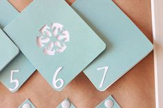 DIY Advent Calendar using cards..