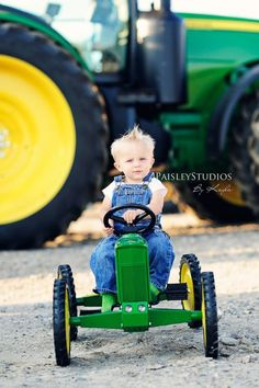 We WILL be doing this someday but with a red tractor:) Maybe with Daddy standing in the background! Children Photography, Family Photography, Infant Photography, Christmas Photography, Outdoor Photography, Photography Props, Baby Pictures, Cute Pictures, Toddler Pictures