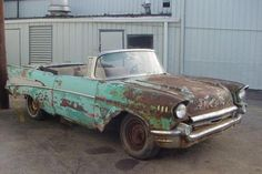 Okay, it's a classic, but take some pride in your car already. Give it a paint job or send it to the junkyard.