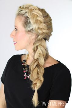 How to make a braid look bigger -- even with thin hair | Twist Me Pretty