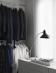 The Home of The Owners of Artilleriet, Sweden | Style&Minimalism Home Office Closet, Walk In Closet, Swedish Interiors, Scandinavian Interior, Wabi Sabi, Rattan, Gravity Home, Beautiful Villas, Blog Deco