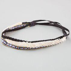 Full Tilt 3 Piece Tribal/Lurex/Crochet Headwraps ($6.99) ❤ liked on Polyvore