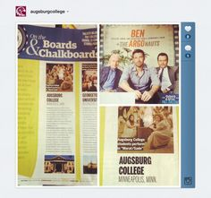 Augsburg theater department hangin' with Ben Affleck, Bryan Cranston, and Alan Arkin. Or, at least in the same magazine. (Backstage.com College Guide)