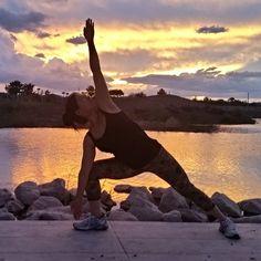 Trikanasana triangle #yoga pose at #sunset  #Hendertucky #Nevada  #photography #photooftheday #yogaspirit #yogasoul #yogapose #yogini #yogalife #yogamodel #fitfam #fitlife #fitfun #fitness #fitnessaddict