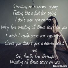 Wasting All These Tears ~ Cassadee Pope