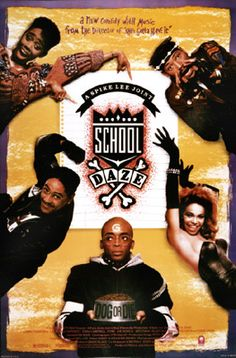 "Spike Lee's ""School Daze"" a movie that spotlights issues of real and perceived racism related to skin tone bias and hair quality within the African-American community while centered among fraternity/sorority life at an HBCU. The film is also lightly based on Lee's experiences at Morehouse College, Spelman College and Clark Atlantic University"