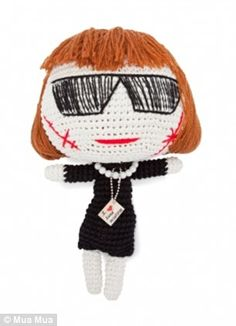 Lady Gaga Zombie knitted doll