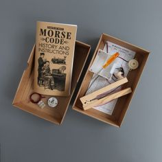 MORSE CODE KIT Price This kit contains all you need to learn about morse code and how it works. It includes a booklet which tells of the fascinating history of this early form of global communication. Box Dimensions: x x