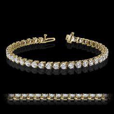 3 Prong Diamond Hybrid® Tennis Bracelet - http://miaco.us/3prongtennis