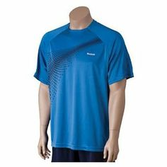 """Reebok Vision X-Static Men's Crew Tennis Shirt by Reebok. $24.95. Stylish microfiber playdry tennis crew with X-Static sections under the arms to keep you cool and comfortable and keep odor away. Playdry is a """"base layer"""" that moves moisture, accelerates evaporation, increases ventilation and reduces abrasion without trapping the body's thermal energy.  X-Static is an advanced material with strategically engineered odor-free silver embedded fibers.  This shirt ..."""