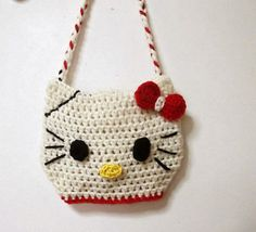 Hello Kitty Bag / Purse CROCHET PATTERN 2 sizes by PatternStudio1, $2.99