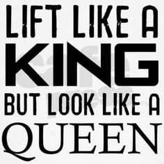 lift-like-a-king-but-look-like-a-queen Jr. Spaghetti Tank Lift like a king but look like a Queen Jr. Spaghet by missfitclothing - CafePress Fitness Motivation Quotes, Fitness Tips, Workout Motivation, Lifting Motivation, Yoga Fitness, Powerlifting Quotes, Powerlifting Women, Strength Training Quotes, Lift Heavy