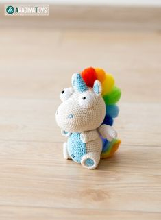 "Crochet Pattern of Unicorn Corki from ""AradiyaToys Design"" (Amigurumi tutorial PDF file)"