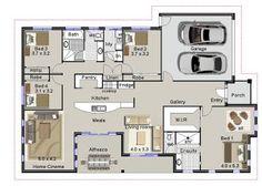 House Plans 4 Bedrooms One Floor Design