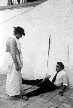 Federico Fellini and Marcello