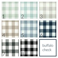 10% OFF SALE Buffalo Check Drapery Panels. Pair Of Two. 63 84 90