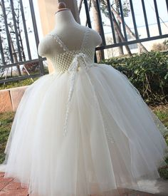 Ivory tutu dress Flower Girl Dress baby by coloranglesBoutique, $56.00 -- What do you think @Kylie Knapp Knapp