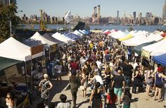 Williamsburg Smorgasburg Brooklyn, New York person outdoor sky crowd people City public space market group human settlement tourism fair festival several