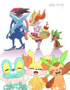 Pokémon XY XYZ KALOS FAMILY!!! Froakie, Fennekin, Chespin, Ash-Greninja, and Braixen!!! ❤️❤️❤️ IM GOING TO MISS THIS GANG SO MUCH T-T