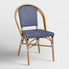 One of my favorite discoveries at WorldMarket.com: Dark Navy Kaliko French Bistro Chairs Set of 2