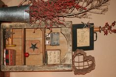 Primitive shelf unit made from reclaimed ranch wood. Super Cute!