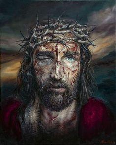 Christ Tattoo, Jesus Tattoo, Pictures Of Jesus Christ, Religious Pictures, Passion Of Christ Images, Jesus Christ Painting, Jesus Christ Drawing, Jesus Drawings, Image Jesus