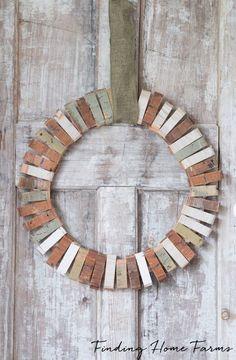 DIY Scrap Wood Wreath