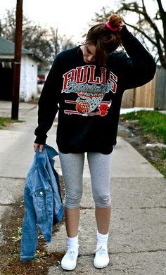 Vintage Chicago Bulls Crewneck Sweatshirt  #vintage #fashion #90s #bulls
