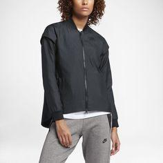 Nike Sportswear Tech Woven Women's Jacket Size Medium (Black) - Clearance Sale