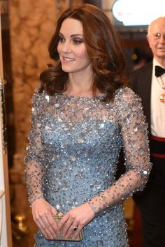 Kate Middleton Channeled Disney's Elsa For the Night in This Icy-Blue Dress