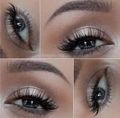 white and silver eye makeup