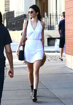 Out in New York.   - ELLE.com I like her white dress nice and simple. But I would do a pop of color like a bright pink or sunny yellow =)