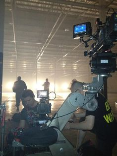 2 camera rigs on one peewee dolly for X2 DOP's + 1 focus puller. By @Odyssey_Films