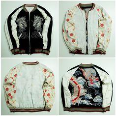 Vintage Japanese Japan Dragon Ryu Wagara Kamon Zen Tattoo Art Embroidery Embroidered Bomber Sukajan Souvenir Jacket (SIZE: M) - Japan Lover Me Store