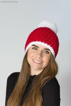 Crochet Christmas Hat Gorros Navidad 225c0d2d497