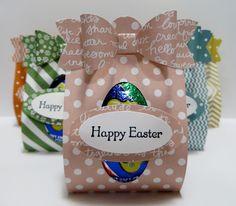 Lynn's Locker: Stampin' Up Stampin' Up Easter Basket Easter Lamb, Bunny, Chick, Cadbury Egg Treat Holder IIII