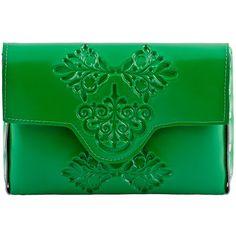 MeDusa Mini Clutch Bag - Green (150 CAD) ❤ liked on Polyvore featuring bags, handbags, clutches, purses, accessories, mini pochette, plastic purse, green handbags, plastic handbags and miniature purse