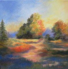"""Sunshine Path"" - Original Fine Art for Sale - © Carol Keene"