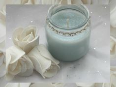 This beautiful wedding favor candle was created using our Chanel No. 5 and Sugar Cane fragrance oils by Vylina Jarbs.