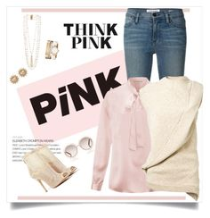 Pink Touch by laaudra-rasco on Polyvore featuring polyvore, fashion, style, Victoria Beckham, Frame Denim, Chinese Laundry, Rosantica, Anne Klein, Carolee and Chloé