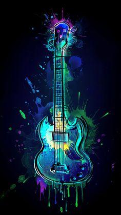 Graffiti Wallpaper Iphone, Neon Wallpaper, Music Wallpaper, Colorful Wallpaper, Cartoon Wallpaper, Music Drawings, Music Artwork, Music Notes Art, Guitar Wall Art