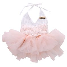 >> Click to Buy << New Summer Cotton Princess Baby Girls Dress Lace Tulle Sleeveless V-Neck Romper Outfits Sunsuit 0-18M #Affiliate