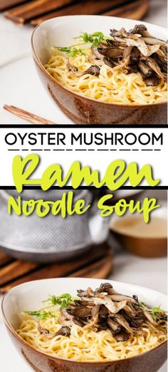 You only get so many minutes sometimes to make a meal. Spend them very wisely and make this Insanely Easy Oyster Mushroom Ramen that is divine. Oyster Mushroom Recipe, Mushroom Soup Recipes, Veggie Recipes, Healthy Recipes, Ramen Recipes, Mushroom Meals, Veggie Meals, Noodle Recipes, Asian Recipes