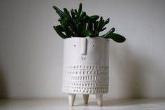 Small tripod planter in pale matt white by AtelierStellaLondon, £40.00