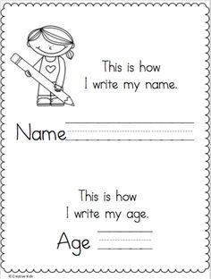 Name Writing Printable Kindergarten Worksheets Coloring Worksheets For Kindergarten, Kindergarten Names, Back To School Worksheets, Preschool Names, Preschool Writing, Fun Worksheets, Preschool Learning Activities, Preschool Printables, Preschool Lessons